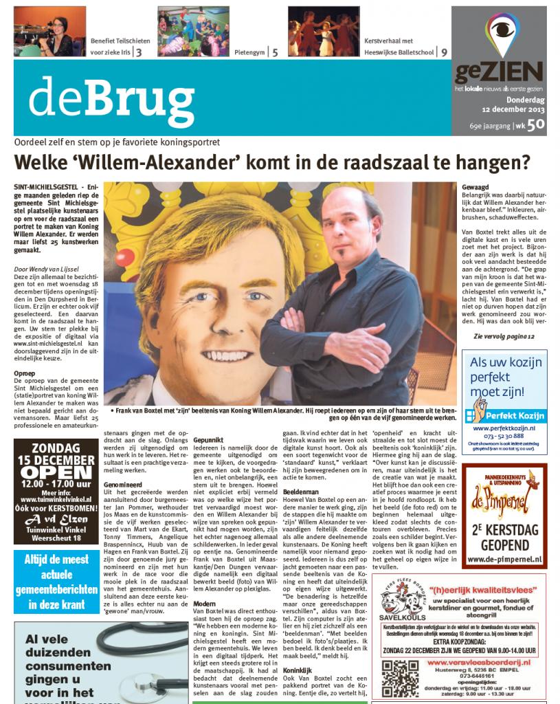 interview frank van boxtel over portret Koning Willem-Alexander